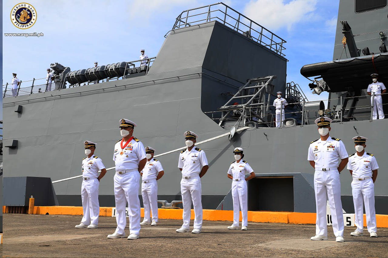 MAIDEN CREW. The BRP Jose Rizal has a maiden crew of 65 sailors. Photo from the Philippine Navy
