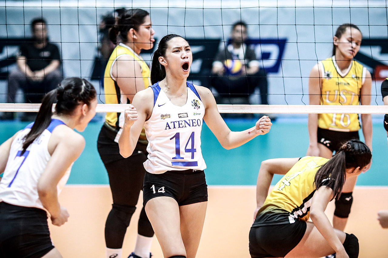 Ateneo Survives Ust In 5 Set Thriller Keeps Solo Lead