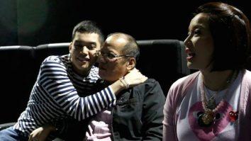 Noynoy Aquino with Josh and Kris
