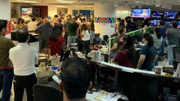 ABS-CBN staff during shutdown