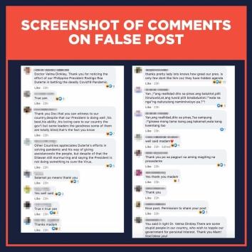 Comments on false quote Spain Medical Doctors Association