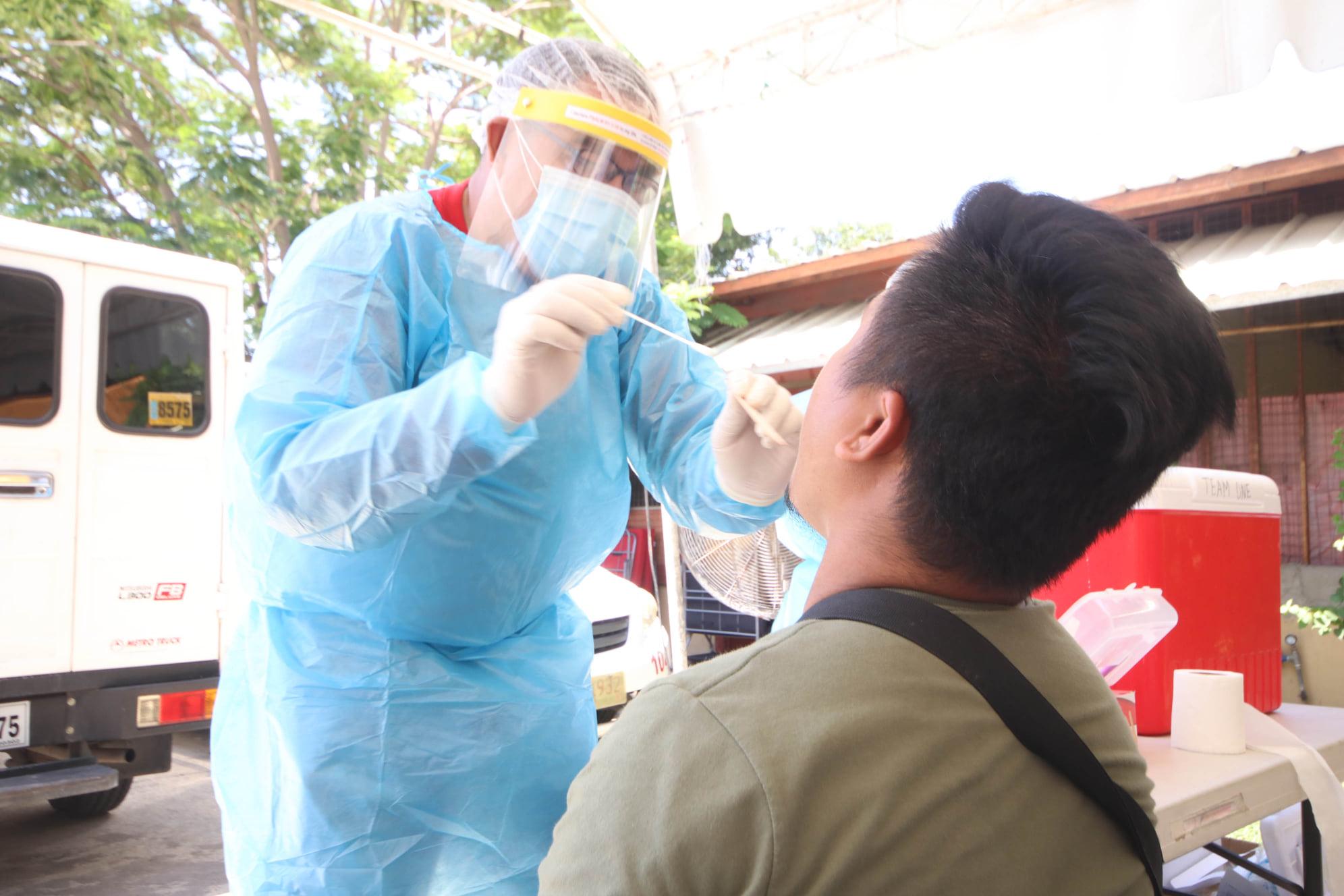Swab test in Pangasinan