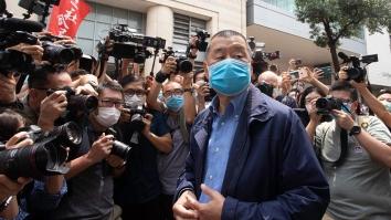 Jimmy Lai, Hong Kong, owner Hong Kong newspaper Apple Daily, Shutterstock