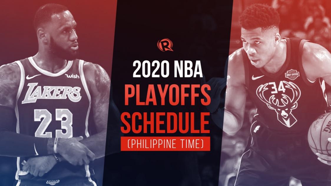 Schedule 2020 Nba Playoffs Philippine Time
