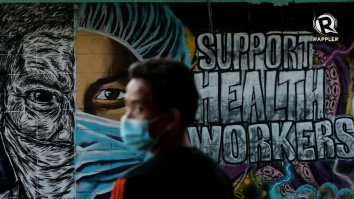 healthcare workers graffiti