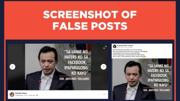 False posts Trillanes quote on Facebook haters