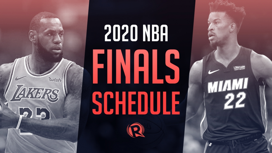 Schedule 2020 Nba Finals Philippine Time
