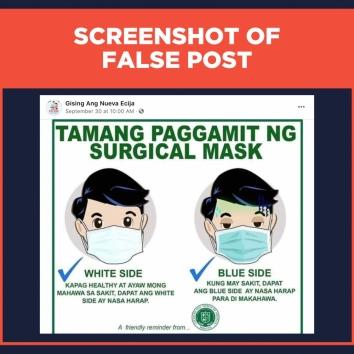 FALSE POST Surgical mask use