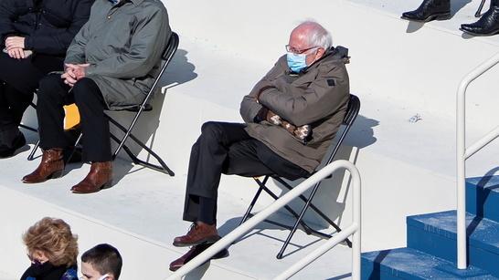 Bernie Sanders Bundled Up At Biden Inauguration Goes Viral In A Meme