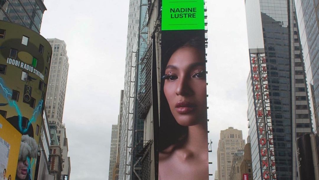 LOOK: Nadine Lustre makes it to billboard on New York's Times Square - Rappler
