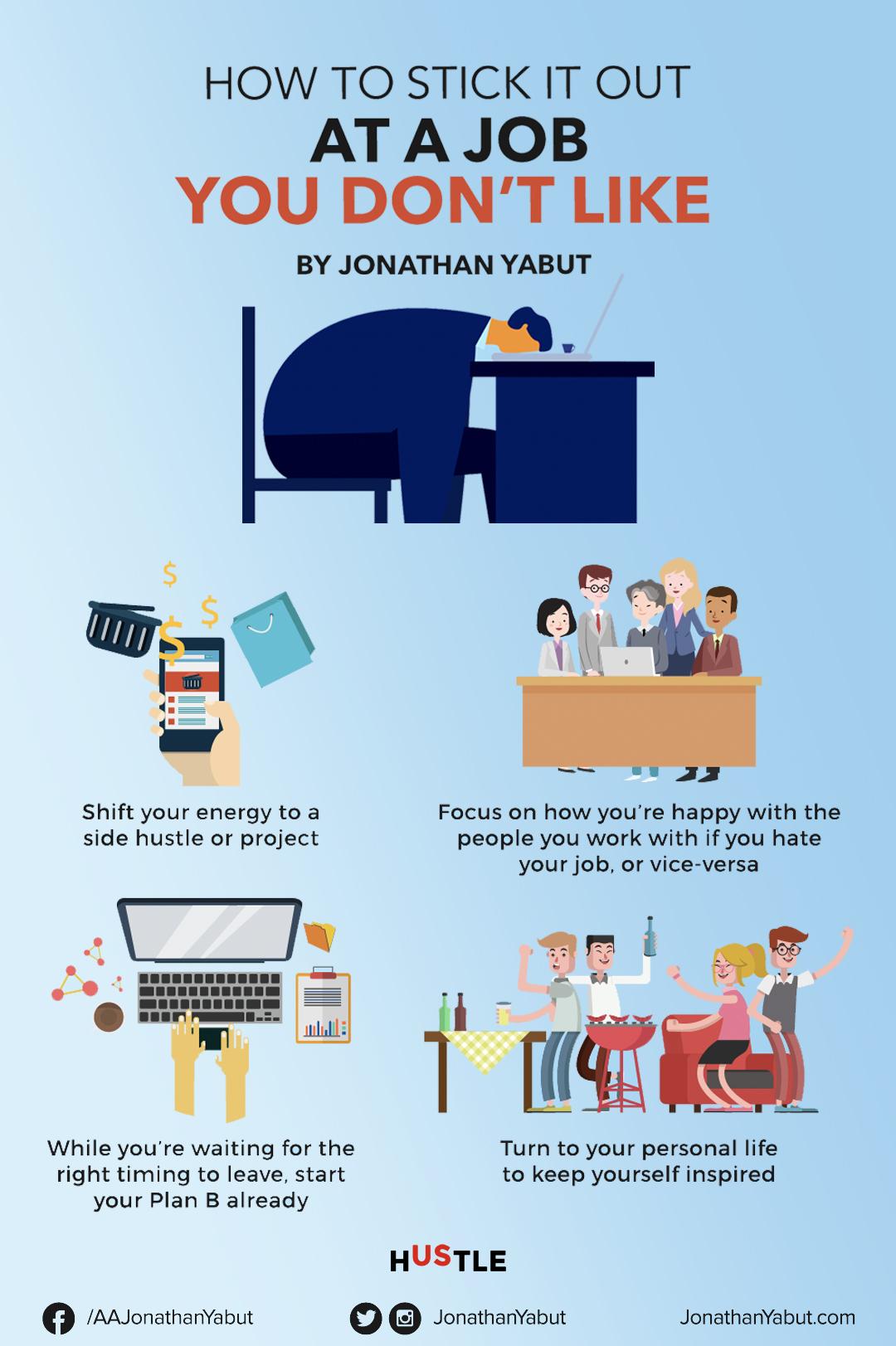 Jak vydržet v práci, kterou nemáte rádi? Změna práce, Nová práce
