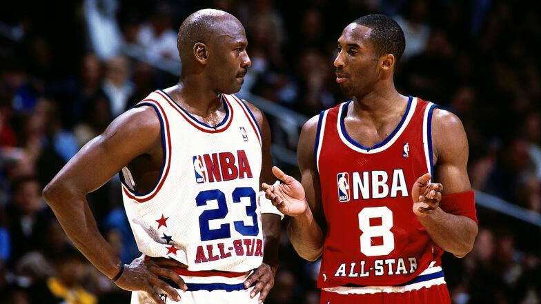 Jordan, Kobe, LeBron banner NBA 75th Anniversary Team