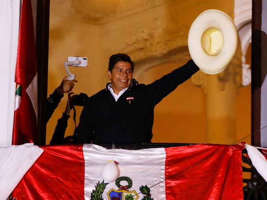 Socialist Castillo clings on to tight lead in Peru election as count nears  end