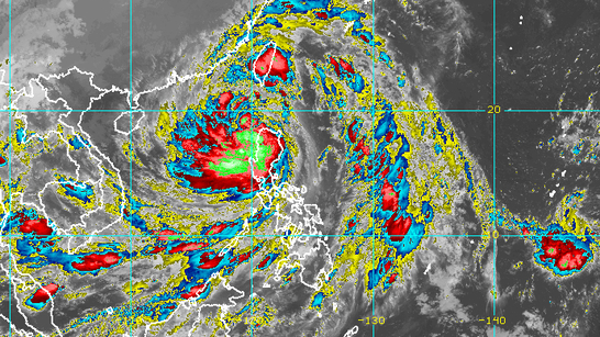 Severe Tropical Storm Maring slightly intensifies, moves over West PH Sea