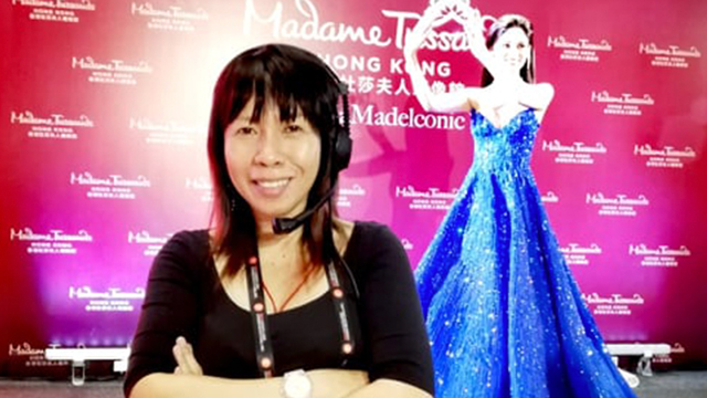 BACKSTAGE QUEEN. Veteran stage manager Lani Tapia at an event for Madame Tussaud's Hong Kong. Photo courtesy of Tapia