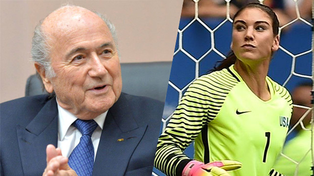 Blatter says Hope Solo's 'grabbed ass' claim is 'absurd'