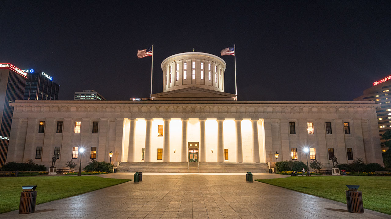 OHIO STATEHOUSE. Photo from Shutterstock