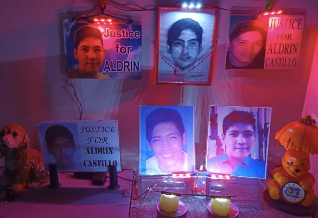 REMEMBERING. Nanette Castillo maintains a corner dedicated to her slain son Aldrin. Photo courtesy of Nanette Castillo