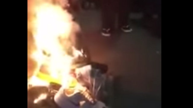 WATCH: Shoes burned in Cebu after Nike
