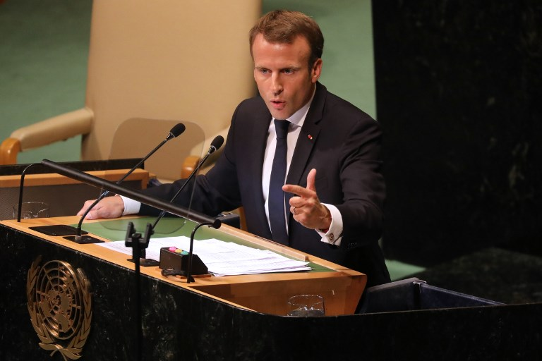 Macron At Un Rebukes Trump S Law Of The Strongest
