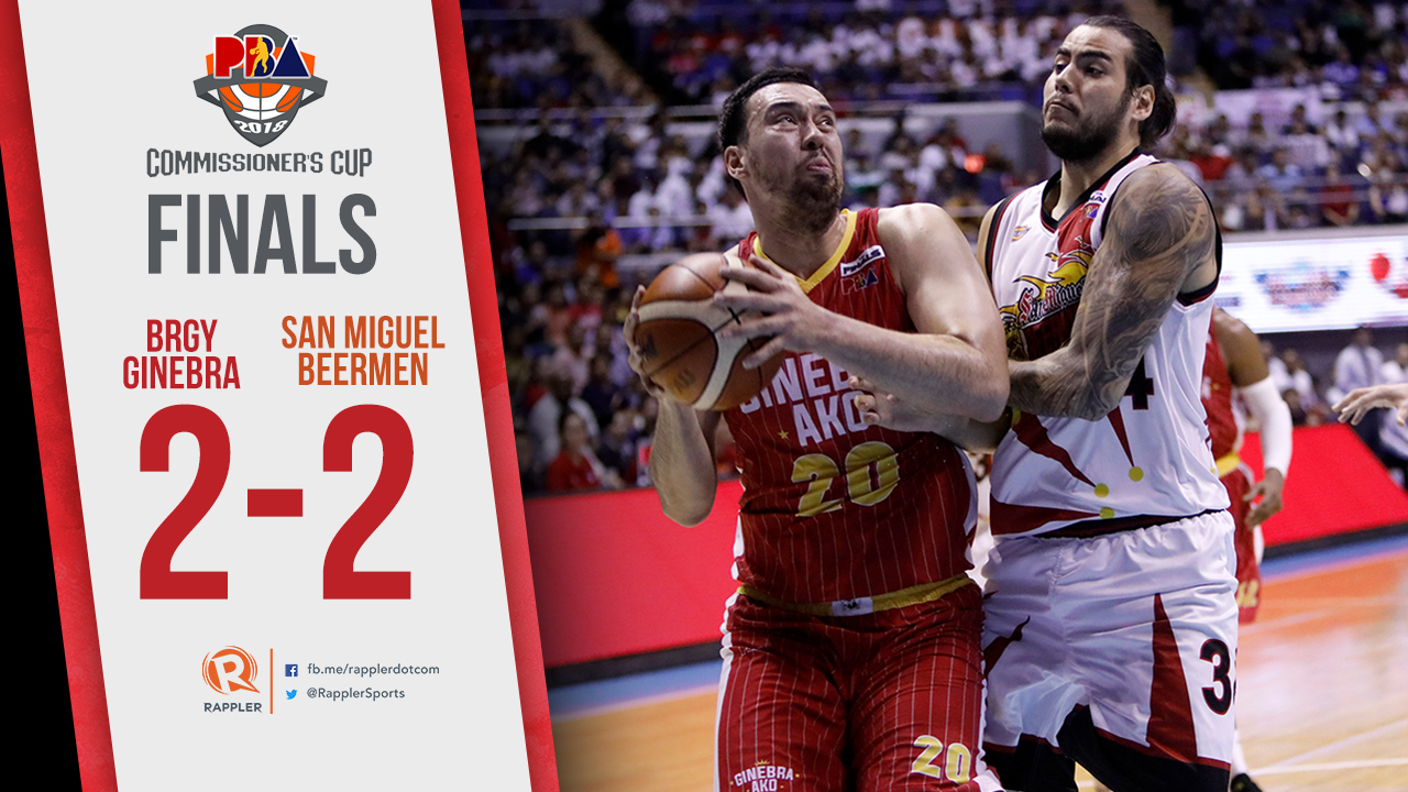 Ginebra Evens Pba Finals With Game 4 Thrashing Of San Miguel